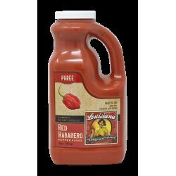 Red Habanero Pepper Puree, 64oz Louisiana Pepper E...
