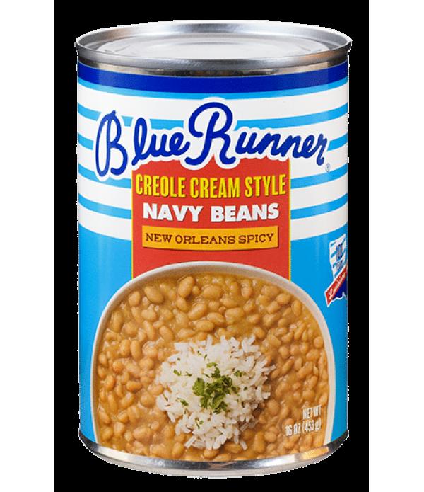 Blue Runner Creole Cream Style Navy Beans 16oz