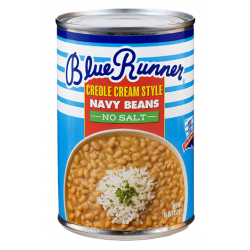 Blue Runner No Salt  Creole Cream Style Navy Beans...