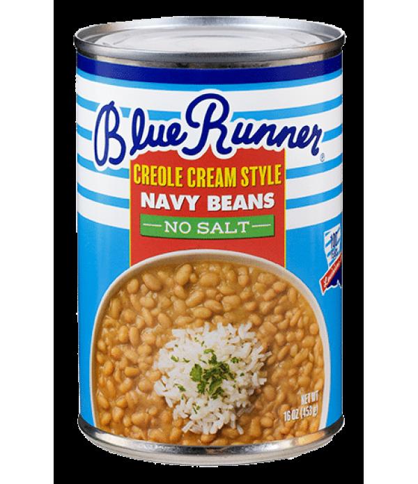 Blue Runner No Salt  Creole Cream Style Navy Beans...