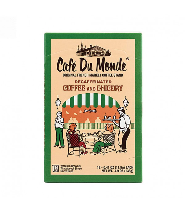 Café Du Monde Single Serve Decaf Coffee and Chico...