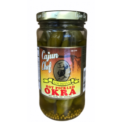 Cajun Chef Hot Pickled Okra 12oz