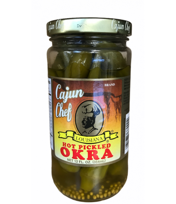 Cajun Chef Hot Pickled Okra 12oz