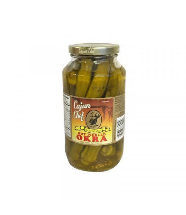 Cajun Chef Hot Pickled Okra 24oz