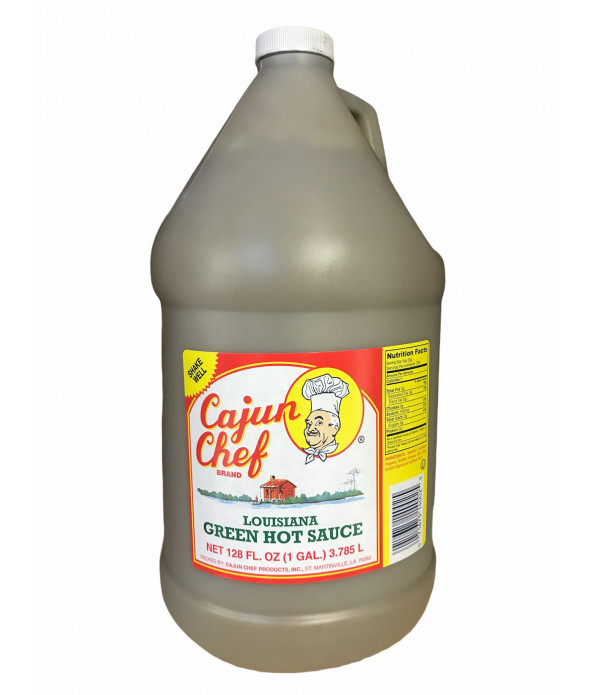 Cajun Chef Green Louisiana Hot Sauce 128oz
