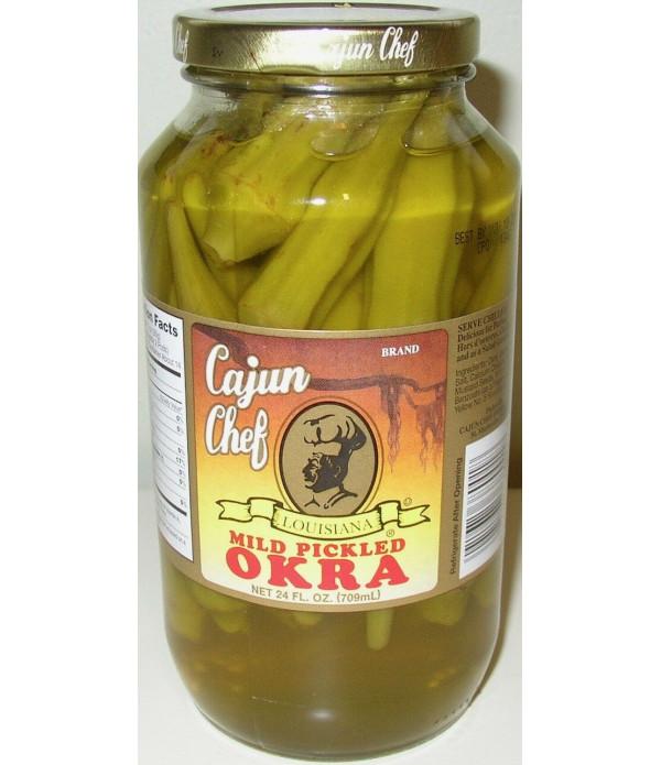 Cajun Chef Mild Pickled Okra 24oz