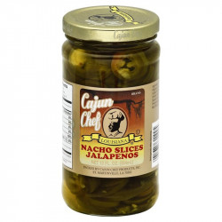 Cajun Chef Nacho Sliced Jalapeno Peppers 12oz