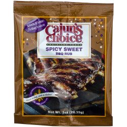 Cajun's Choice Spicy Sweet BBQ Rub 1oz