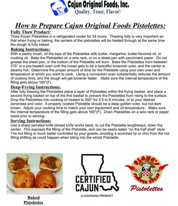 Cajun Original Crab Pistolettes 6 Pack