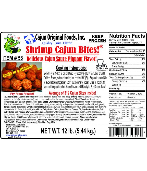 Cajun Original Pork Cajun Bites 1lb (26 Bites)