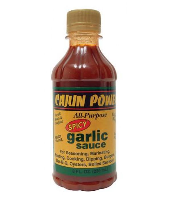 Cajun Power Spicy Garlic Sauce 8oz