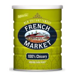 French Market Dark Roast 100% Ground Chicory 16oz