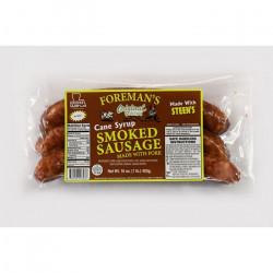 Foreman's Smoked Cane Syrup Sausage 1lb