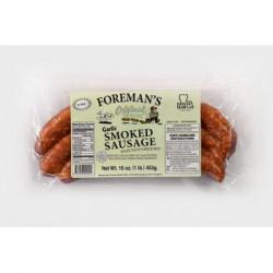Foreman's Smoked Garlic Sausage 1lb