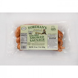 Foreman's Smoked Green Onion Sausage 1lb