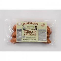Foreman's Smoked Jalapeno Sausage 1lb
