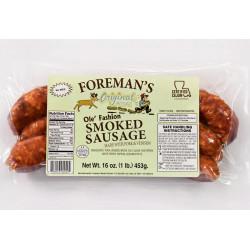 Foreman's Smoked Venison Sausage 1lb
