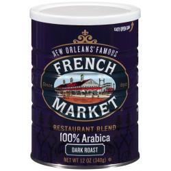 French Market Restaurant Blend Dark Roast Can 12oz