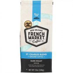 French Market St. Charles Blend Dark Roast Blue Ba...