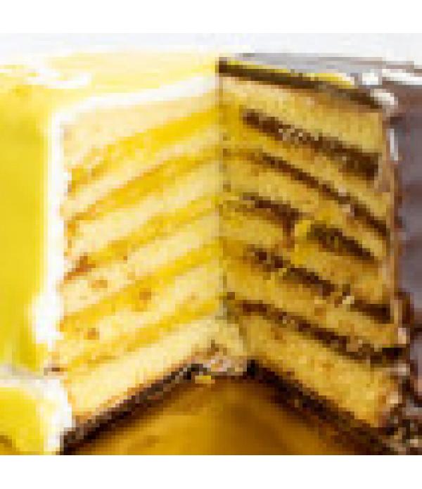 Gambino's Chocolate & Lemon Doberge Cake