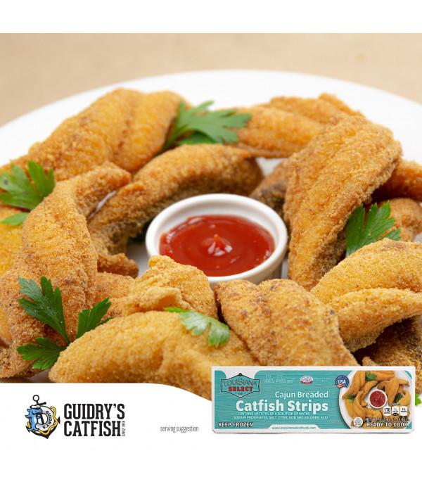 Guidry's Breaded LA Select Catfish Fillet Strips 3...