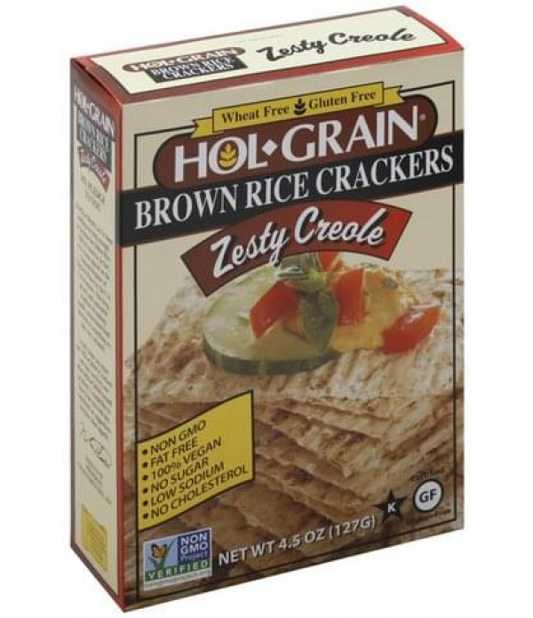 Hol Grain Rice Crackers Zesty Creole 4.5 oz