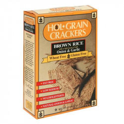 Hol Grain Rice Crackers Onion & Garlic 4.5oz