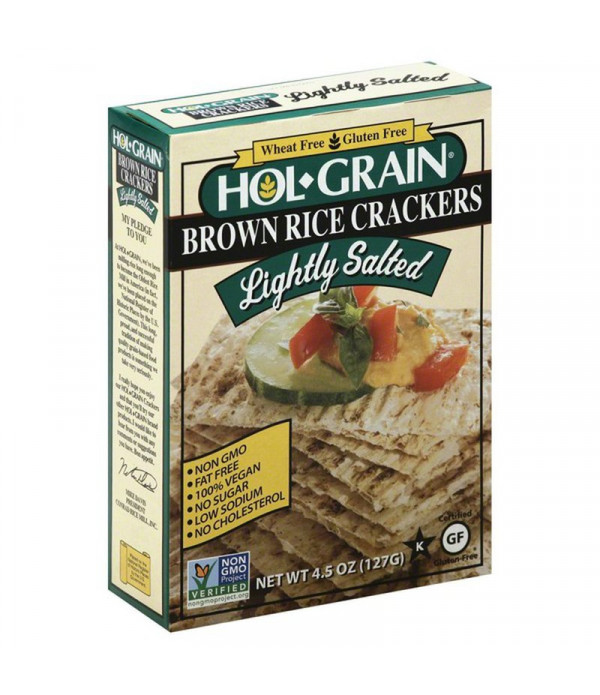 Hol Grain Salted Rice Crackers 4.5oz