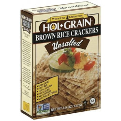 Hol Grain Unsalted Rice Crackers 4.5 oz