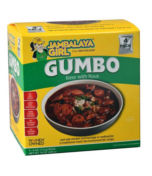 Jambalaya Girl Gumbo 4 oz 4pk