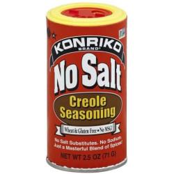 Konriko NO SALT CREOLE SEASONING 2.5 oz