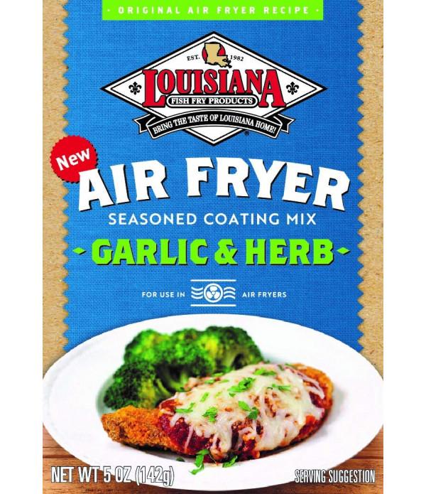 Louisiana Fish Fry Air Fry Garlic & Herb Coating Mix 5oz