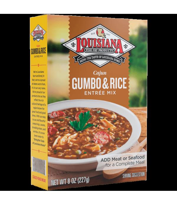 Louisiana Fish Fry Gumbo w/Rice Mix 8 oz