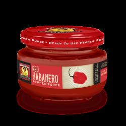 Red Habanero Pepper Puree, 4oz Louisiana Pepper Ex...