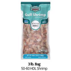 Louisiana Select 3lb BAG 50-60 Headless Shrimp