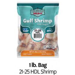 Louisiana Select 1lb BAG 21-25 Headless Shrimp