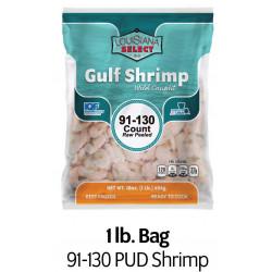 Louisiana Select 1lb BAG 91-130 PUD Shrimp