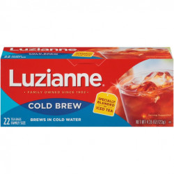 Luzianne Cold Brew Family Size Regular Tea 22 ct