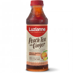 Luzianne Ready to Drink Sweet Peach Tea with Ginge...