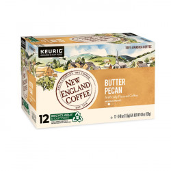 New England Coffee Butter Pecan Single Serve 12ct