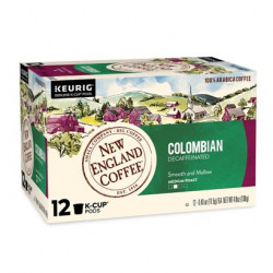 New England Coffee Colombian Decaf Single Serve 12...