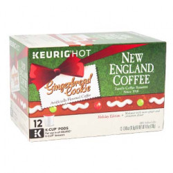 New England Coffee Gingerbread Single Serve 12ct