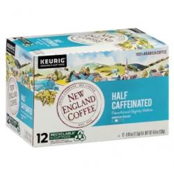 New England Coffee Half Caffeinated Single Serve 1...