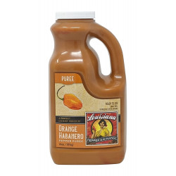 Orange Habanero Pepper Puree 64oz Louisiana Pepper...