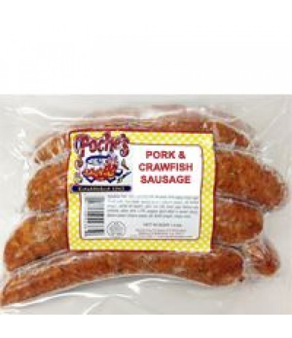 Poche's Crawfish & Pork Sausage 1lb