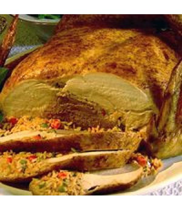 Poche's Turducken w/ Crawfish & Shrimp