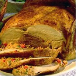 Poche's Turducken w/ Cornbread & Rice Dressing...