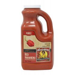 Red Habanero Pepper Puree 64oz Louisiana Pepper Ex...