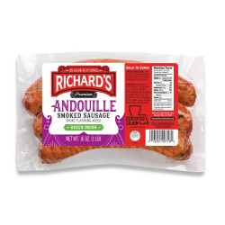 Richard's Andouille w/ Green Onion 1lb
