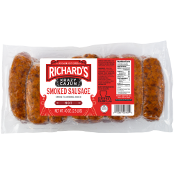 Richard's Krazy Cajun Link Hot Smoked Sausage 2.5l...